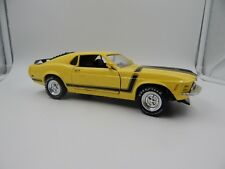 """Ertl 1970 Ford Mustang Coupe Yellow 1/18 10"""""""
