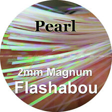 Pearl Color, 10 Packs Magnum Flashabou, 2mm Holographic Tinsel, Flash, Fly Tying