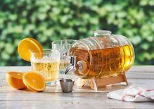 Kilner 1L Glass Spirits Beer Drinks Water Barrel Dispenser with Wooden Stand