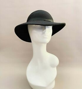 Vintage classic hat, wool hat, weddings,races,church, mother of the bride, black