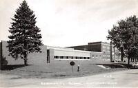 D5/ Winthrop Minnesota Mn Real Photo RPPC Postcard 1957 Community School