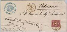 53799  -  ITALIA REGNO - Storia Postale: SEGNATASSE su BUSTA da ANFO  1875