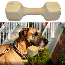 Strong Wood Pet Dog Chew Toys Dumbbell Shape Training Bite for Medium Large Dog
