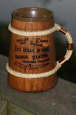 VTG Casino Advertising Wood Mug with Rope & Copper Handle - Sahara Caesars Dunes