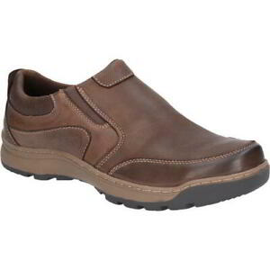 Hush Puppies Jasper Mens Brown Leather Slip On Casual Work Shoes Size 8-12