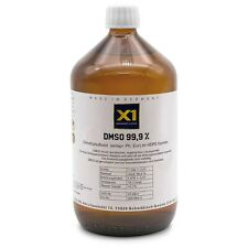 DMSO 1000ml Dimethylsulfoxid, über 99,9% Reinheit (Ph Eur) in Braunglasflasche