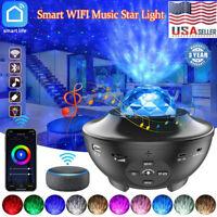 WIFI Smart LED Star Projector Night Light Galaxy Starry Ocean Wave Lamp Kid Gift