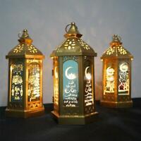 Happy Eid Mubarak Metal LED Lights Festival Lantern Ramadan Home Decor Muslim