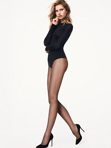 WOLFORD Twenties Micro-Net Tights Size S Comfortable Sewn-On Branded Waistband