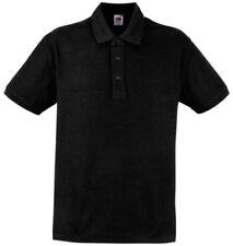 Camicie casual e maglie da uomo neri con colletto regolare taglia XXL