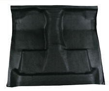 Black Vinyl Floor Mat - replaces carpet 99-07 Ford F350 super duty crew cab auto