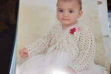 Sirdar Crochet Pattern 1699 Snuggly Bubbly Bolero birth to 6 yrs