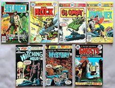7x DC Comics SGT-Rock G. I. Combat Weird Western Ghost US Comics 70er Jahre #844