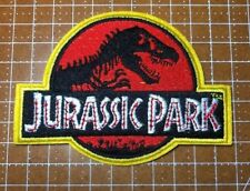 """Jurassic Park Movie Logo Embroidered Iron-On Deluxe Patch New Red Applique 4"""""""