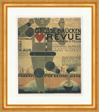 Grosse puentes Revue mimo acojo Oskar Schlemmer son impresiones artísticas plakatwelt 899
