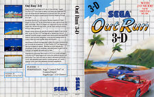 Out Run 3-D 3D Sega Master System Replacement Box Art Case Insert Cover