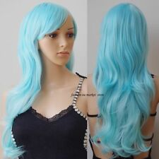 Ombre Black To Gray Long Wavy Curl Straight No Lace Front Wig Synthetic Full Wig