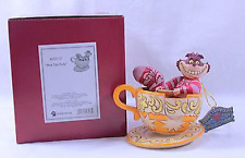 Disney Traditions, Jim Shore, Cheshire Cat Mad Tea Party. Retired. New in box.