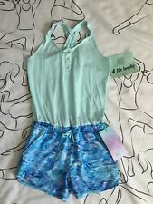 Ivivva By Lululemon Girls, Serene Heart Romper, SIZE12,AQUA/GLTL,$64.00 LAST ONE