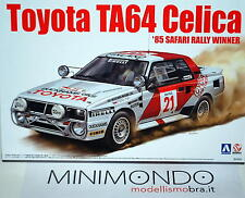 KIT TOYOTA TA64 CELICA GR.B 1985 SAFARI RALLY WINNER 1/24 AOSHIMA 24004 84564