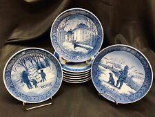 Set 9 Royal Copenhagen Denmark 7.25� Christmas Plates