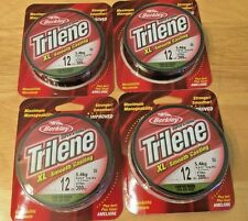 4 Packs - Berkley Trilene XL Low Vis Green Fishing Line, 12 lb Test, 300 Yds