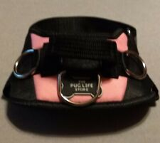 New listing Pug Life Dog Harness, Small Size - Pink & Black - New Without Tags - Unused