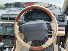 Range Rover p38 leather wood steering wheel