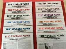 MANDOLIN BROS. Vintage News: Featuring 1968 CF Martin D-45; 12 issues, 2000