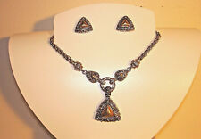 Vintage Jewelry Necklace & Pierced Earring Set