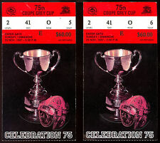 1987 CFL 2 ticket stub 75 Grey Cup FOOTBALL B C STADIUM Eskimos Argonauts row 0
