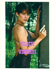 CAREY LOWELL sexy legs GUN ACTION James Bond Girl PHOTO LOT Timothy Dalton RARE