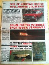 L'AUTO-JOURNAL n°470 du 01/1969; 12 petites sportives à l'essai/ 50 ans citroen
