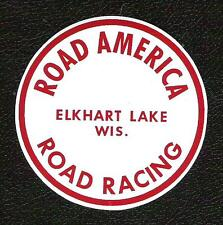 Road America Road Racing Sticker, Elkhart Lake, Wis., Vintage Sports Car Decal