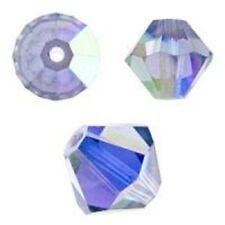 Swarovski Crystal Bicone. Tanzanite AB Color. 4mm. Approx. 144 PCS. 5328