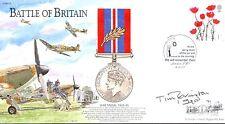 BB24 batalla de Gran Bretaña Batalla de Gran Bretaña firmado Cubierta RAF Piloto Elkington