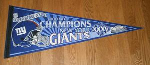 2000 New York Giants Super Bowl XXXV pennant NFC Champs Tiki Barber