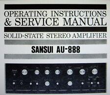 Sansui AU-888 ss st amp operating instructions et service manual bound anglais