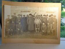 Rare 1905 Canadian Peace Treaty 9 Signing w/ First Nations Kootenai Chief Photo