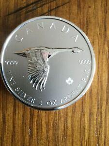 2020 CANADA FLYING GOOSE 2 OZ .9999 FINE SILVER $10 COIN