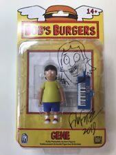 Bob's Burgers Gene Belcher Toy Action Figure New Signed & Sketched