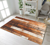 Home Floor Mat Jointed Wood board Printing Decor Area Rugs Living Room Carpet