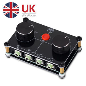 Mini 4-way Stereo Audio Switch Box Speaker 3.5mm AUX Headphone Selector Splitter