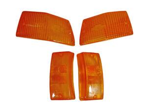 Vespa Front Rear Indicators Amber Lens Set of 4 PX 125 150 200 LML Stella