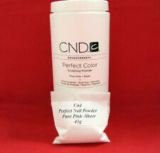 45 grams (g) CND Perfect PURE PINK SHEER Colour Acrylic Nail Powder