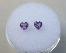 Amethyst Heart Loose Gem Pair  4mm