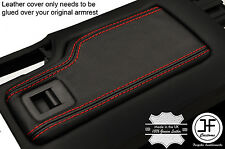RED STITCHING REAL LEATHER ARMREST LID COVER FITS MAZDA MX5 MK3 3.5 2009-2015