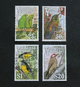 TRINIDAD & TOBAGO - 1990 SCARCE BIRDS P/SET TO $20 VFU RR