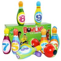 Children's Solid Bowling Set Parent Child Interactive Indoor Lldty LrJNE
