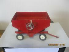 Vintage Ertl Metal Gravity Feed Grain Hopper Wagon Farm Equipment Nice Shape